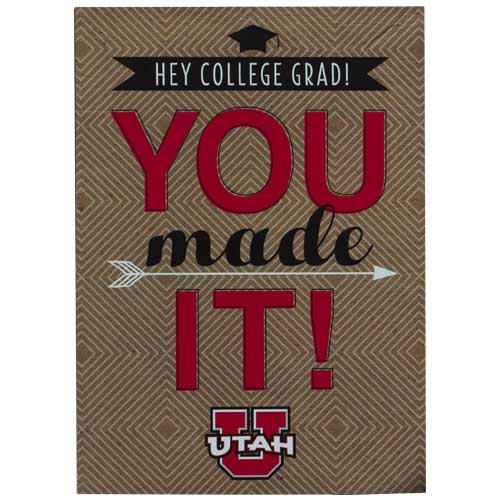 Image For Utah YOU MADE IT! Grad Card