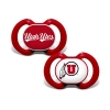 Image for Utah Utes Orthodontic Two-Pack Pacifiers