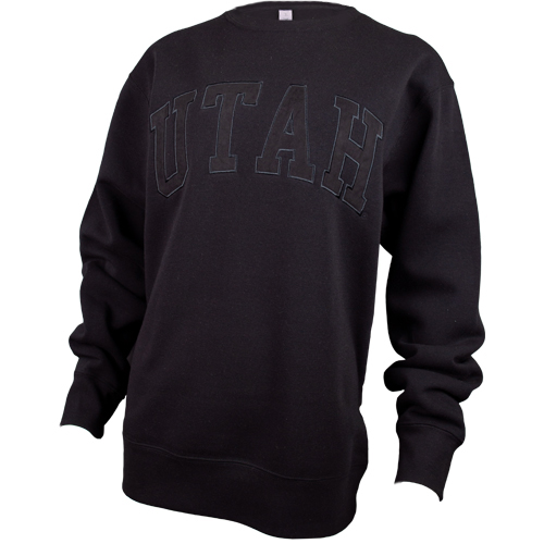Image For Utah Utes Women's Black-on-Black Sweatshirt