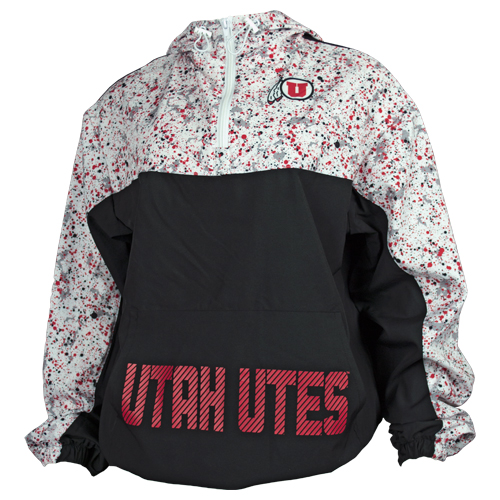Image For Utah Utes Red Splatter Athletic Logo Jacket