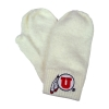 Image for Athletic Logo Fuzzy Cream Mittens