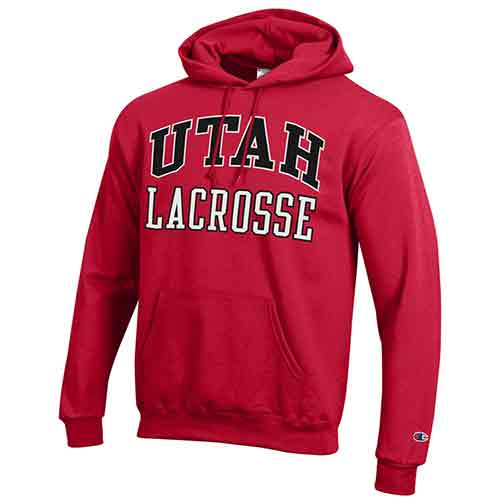 Cover Image For Utah Utes Champion Lacrosse Hoodie