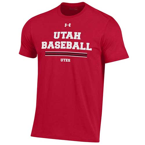 Cover Image For Utah Utes Under Armour Sideline Baseball T-shirt