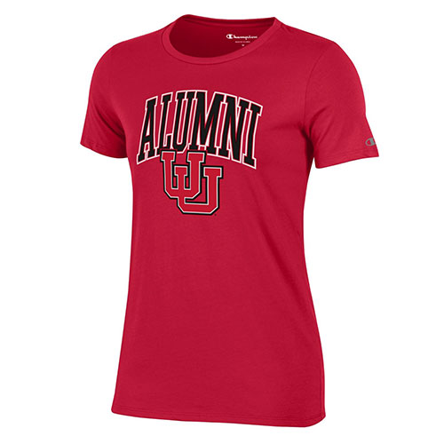Image For Utah Utes Women's Alumni Red Interlocking U T-Shirt