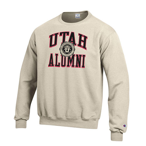 Image For University of Utah Utes Medallion Alumni Crew Neck