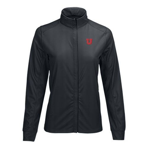 Image For Utah Utes Women's Herringbone Zip-Up Jacket