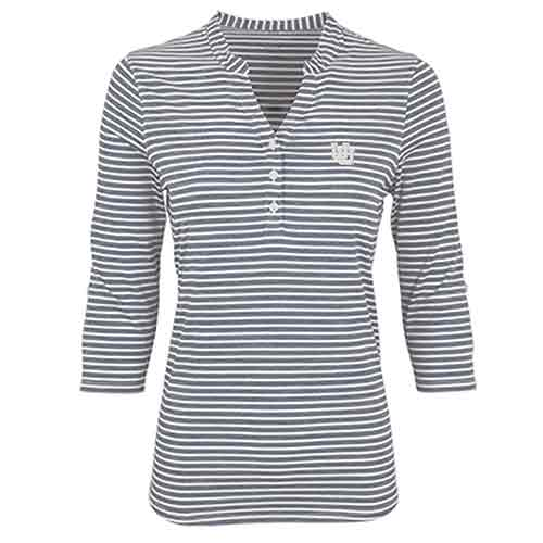Image For Women's Striped V-Neck Polo