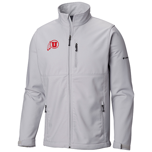Image For Utah Utes Light Grey Columbia Zip-Up Jacket