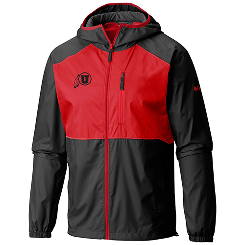 Image For Utah Utes Men's Colorblock Windbreaker