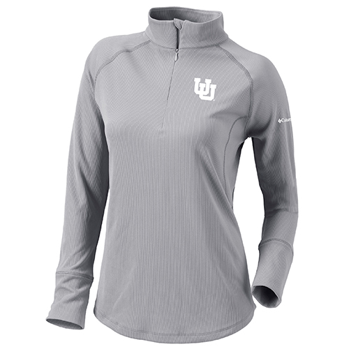 Image For Utah Utes Grey Interlocking U Quarter Zip Pullover