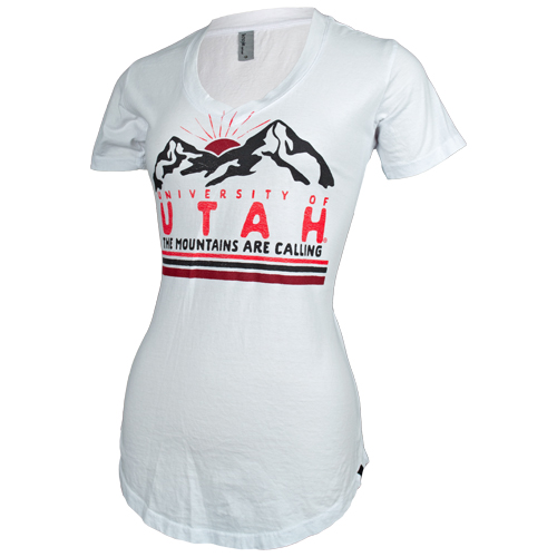 "Image For Utah Utes Women's ""The Mountains Are Calling"" T-Shirt"