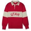 Cover Image for Utah Utes Hillflint Red Satin Men's Bomber Jacket