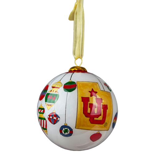 Image For Hand-Painted Utah Ornament