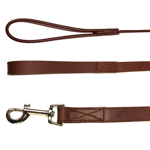 Image For Utah Utes Athletic Logo Brown Leather Leash