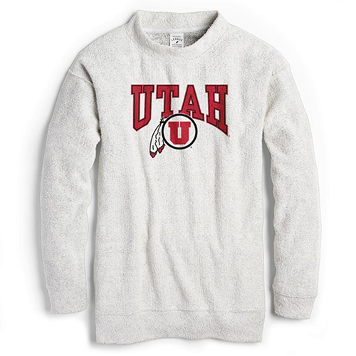 Image For Utah Utes Women's Fleece Crewneck