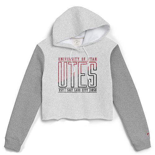 Image For Utah Utes Women's Black 'n Red Cropped Hoodie
