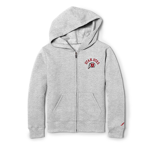 Image For Utah Utes Athletic Logo League Youth Hoodie