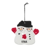 Image for Utah Double Snowman Ornament