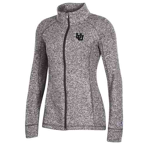 Image For Utah Utes Women's Interlocking U Gray Full-zip Jacket