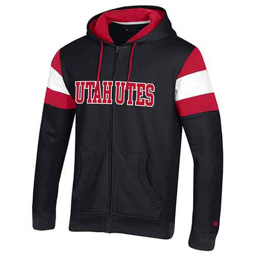 Image For Utah Utes Black Full-Zip Hoodie