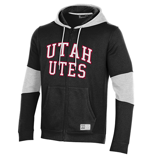 Image For Utah Utes Black Under Armour Zip-Up Hoodie