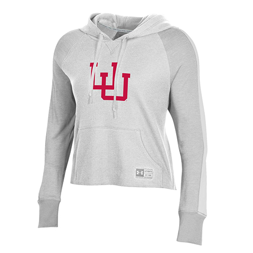 Cover Image For Utah Utes Women's Under Armour Waffle Cropped Long Sleeve