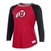 Image for Utah Utes Women's Athletic Logo Under Armour Baseball Tee