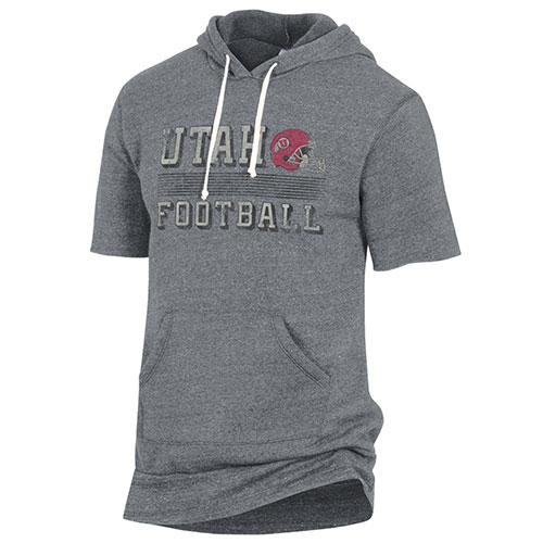 Image For Utah Utes Football Short Sleeve Pullover Hoodie