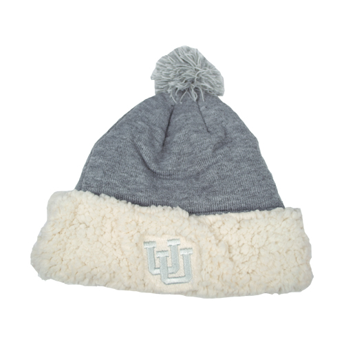 Image For Interlocking U Sherpa Pom-Pom Beanie