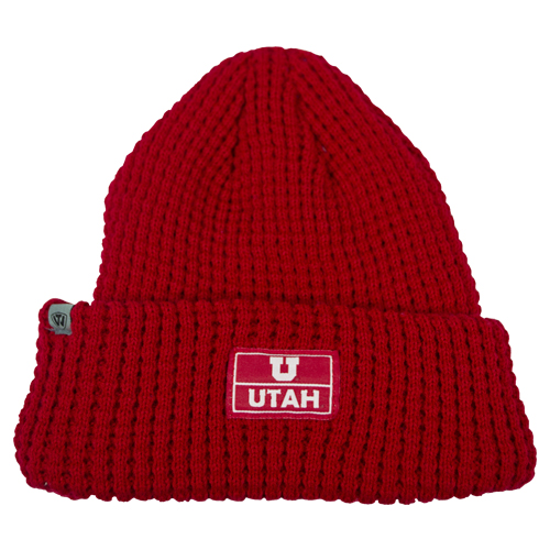 Image For Utah Utes Red Waffle Beanie