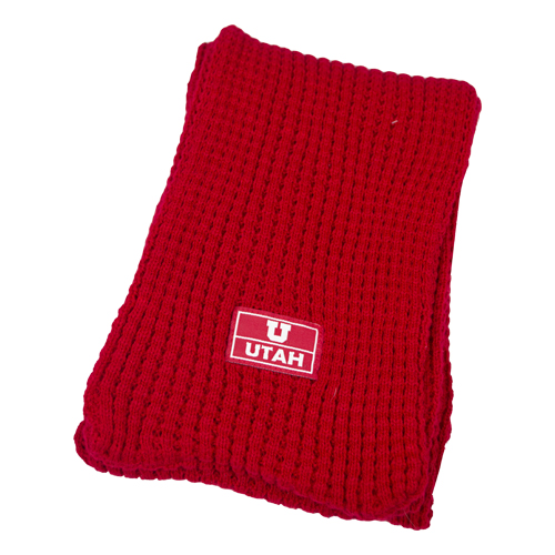 Image For Block U Red Waffle Scarf