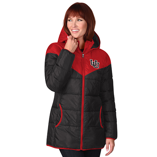 Image For Utah Utes Black n Red Women's Parka