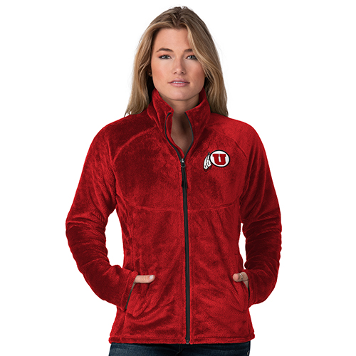 Image For Utah Utes Women's Fleece Zip-Up Jacket