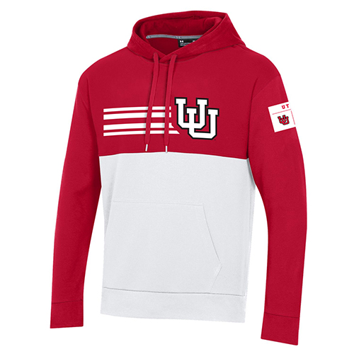 Image For Under Armour Red & White Throwback Hoodie