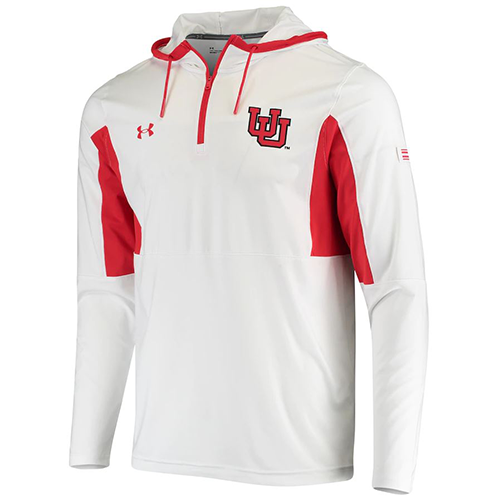 Image For Utah Utes Under Armour Half Zip Cowl-Neck Hoodie