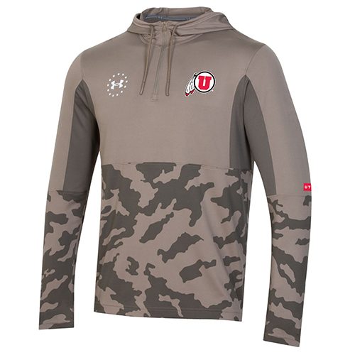 Image For Under Armour Sideline Camo Quarter-Zip Hoodie