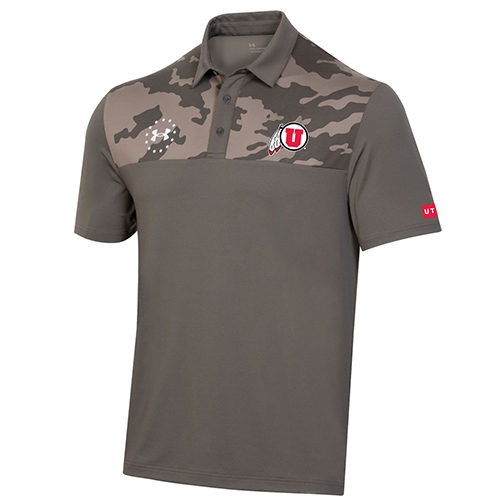 Image For Utah Under Armour Freedom Camo Polo