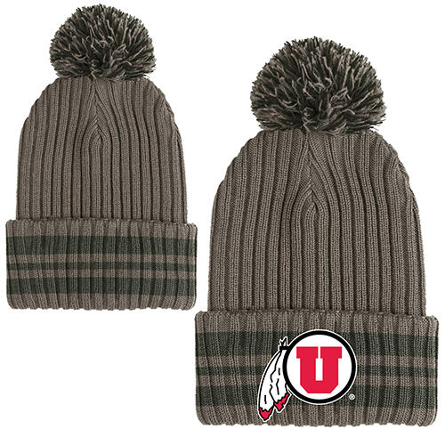 Image For Under Armour Athletic Logo Military Pom Beanie