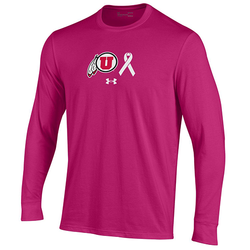 Image For Utah Utes Power in Pink Under Armour Long Sleeve Tee