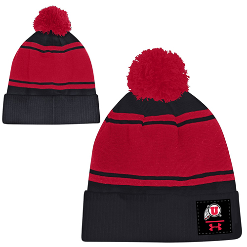 Image For Under Armour Pom Striped Beanie