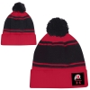 Image for Utah Utes Under Armour Red Striped Pom Beanie