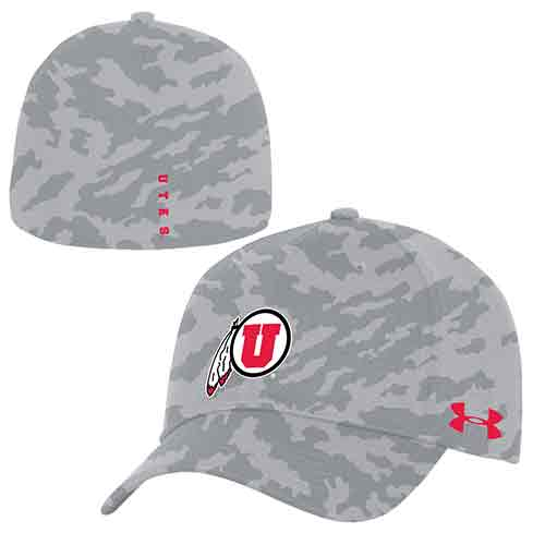 Image For Under Armour Fitted Gray Camo Hat