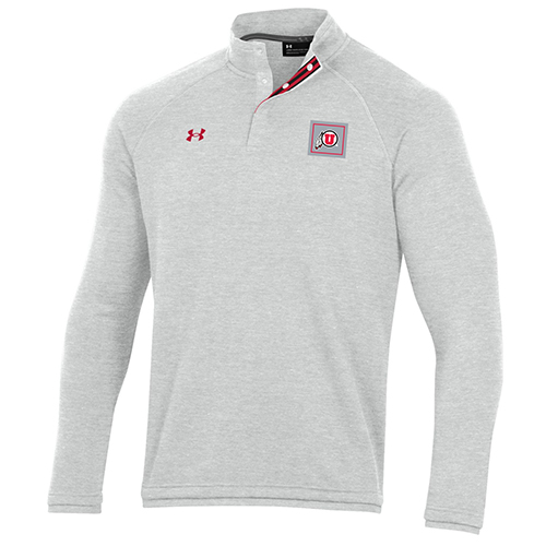 Image For Utah Utes Under Armour Grey Sideline Quarter-Snap