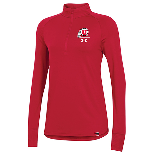 Image For Utah Utes Women's Sideline Under Armour Quarter-Zip