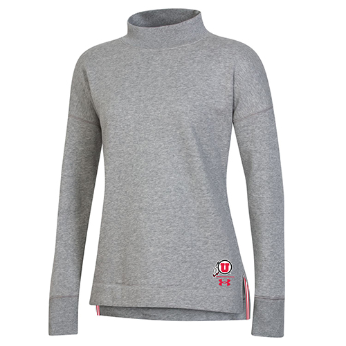Cover Image For Utah Utes Women's Under Armour Sideline Crewneck
