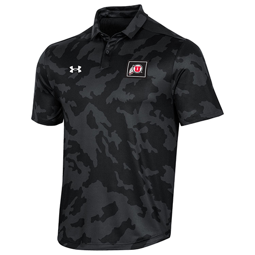 Cover Image For Utah Utes Camo Under Armour Sideline Polo