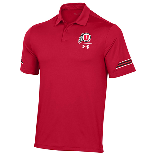 Image For Utah Utes Under Armour Striped Sleeve Sideline Polo