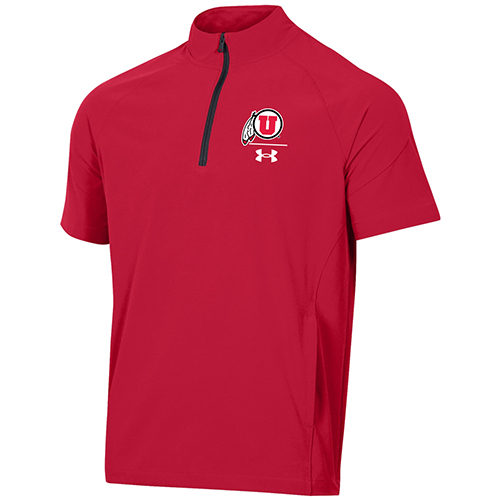 Image For Utah Utes Under Armour Short Sleeve Sideline Quarter-Zip