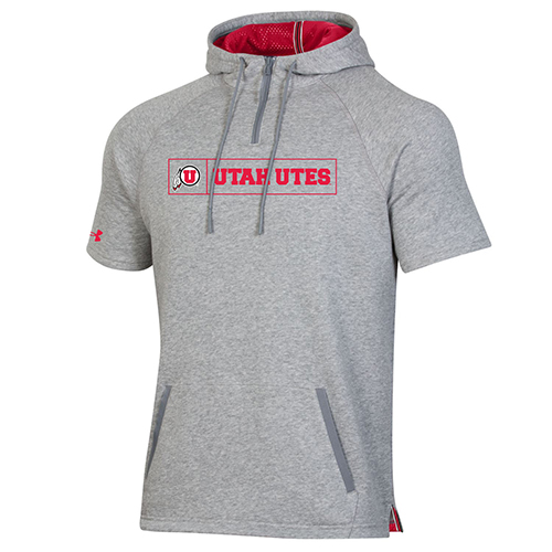 Image For Utah Utes Under Armour Short Sleeve Sideline Hoodie