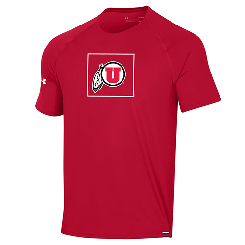 Image For Utah Utes Youth Under Armour Sideline Tee